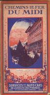 Chemins De Fer Du Midi 1922 Guide Officiel Train Chemin De Fer TBE En 187 Pages - Ferrocarril & Tranvías