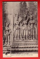 CPA: Cambodge - Angkor-Vat - Fragment Du Bas-relief - Encadrement D´une Des Portes (Crespin N°16) - Kambodscha