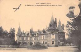 28 MAILLEBOIS M. LATHAM SUR SON MONOPLAN ANTOINETTE AU DESSUS DU CHATEAU - Sonstige Gemeinden