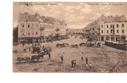 Uzhgorod Kosuthovo Namesti 1925 OLD POSTCARD 2 Scans - Ukraine