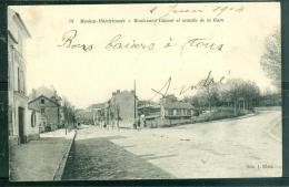 MEULAN - HARDRICOURT - BOULEVARD CARNOT ET MONTEE DE LA GARE - ( Parfait état )  Dac 132 - Hardricourt