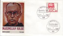 FDC 771  Hl. Maximilian Kolbe (1894-1941) Poln. Franziskaner-Pater - [7] République Fédérale