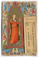CARTOLINA CON CALENDARIO BEATO ANGELICO ANNO 1910 CALENDRIER - Calendari