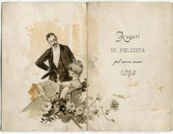 CALENDARIETTO AUGURI DI FELICITà ANNO 1896 COPPIE CALENDRIER - Formato Piccolo : ...-1900