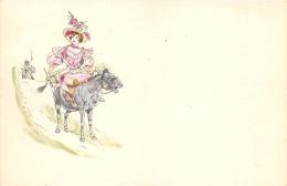 ILLUSTRATEUR  FEMME  ANIMAUX  ANE - Illustrators & Photographers