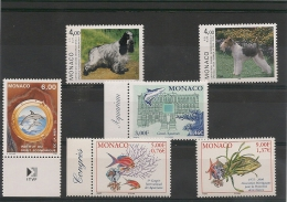 MONACO  Années 1995-2000 Faune N°Y/T: 1938-1980-2029-2268-2271- 2272** - Collections, Lots & Series