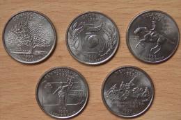 AMERIQUE 5 * Quart De Dollar USA 1999 - Monnaies