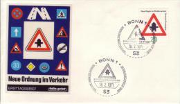 FDC 666  Neue Regeln Im Straßenverkehr - Vorfahrt  20 Pf - [7] Federal Republic