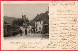 CPA 39 PORT LESNEY Une Rue Du Vieux Port Canton De Villers-Farlay   Dos Ligné 1903 - Andere Gemeenten