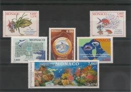MONACO  Années 1994/2000 Faune/mer N°: 1938-2268-2271/72-2287** Côte: 16,70 € - Collections, Lots & Series