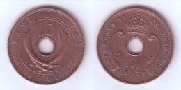 East Africa 10 Cents 1937 H - British Colony