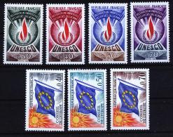 A2459) Frankreich France Dienstmarken UNESCO U. Europarat ** Unused MNH - Ungebraucht
