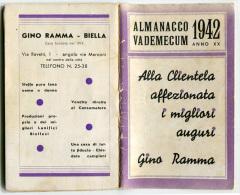 ALMANACCO VADEMECUM BENACO BIELLA ANNO 1942 - Formato Piccolo : 1941-60