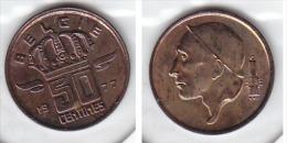 50 CENTIMES Bronze Baudouin 1977 FL - 1951-1993: Baudouin I