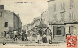 63 - Porteur D'Eau Place Du Poids-de-Ville Saint-Germain-Lembron - édit; VDC N° 2435 (voir 2 Scans) - Saint Germain Lembron