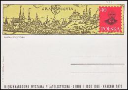"Poland 1970, Postal Stationery ""International WF ""Lenin And His Iee"""" Cp.460, Mint - Interi Postali"