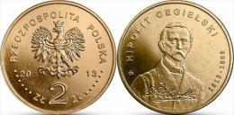 "POLONIA 2 ZLOTES 2.013 2013 Nordic Gold/Oro Nórdico ""HIPOLIT CEGIELSKI"" T-DL-10.610 - Polonia"