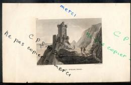 Eaux Fortes - N° 062 - TOUR DE WOLFS CRAG. - F. A. Pernot Del. / Alex Le Petit Sc. - Prints & Engravings