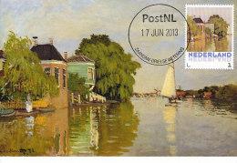 D14615 CARTE MAXIMUM CARD 2013 NETHERLANDS - CLAUDE MONET - HOUSES ON THE ACHTERZAAN ZAANDAM !! PLEASE READ !! - Impressionisme