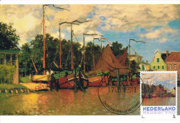 D14616 CARTE MAXIMUM CARD 2013 NETHERLANDS - CLAUDE MONET - BOATS AT ZAANDAM !! PLEASE READ !! - Impressionisme