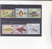 CUBA :poissons Et Crustacé : Y&T : O : - Cuba