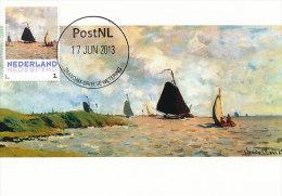 D14623 CARTE MAXIMUM CARD 2013 NETHERLANDS - CLAUDE MONET - SEASCAPE !! PLEASE READ !! - Impressionisme