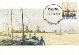 D14625 CARTE MAXIMUM CARD 2013 NETHERLANDS - CLAUDE MONET - THE BANKS OF THE ZAAN ZAANDAM !! PLEASE READ !! - Impressionisme