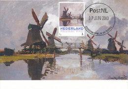 D14626 CARTE MAXIMUM CARD 2013 NETHERLANDS - CLAUDE MONET - MILLS AND BRIDGE AT ZAANDAM !! PLEASE READ !! - Impressionisme