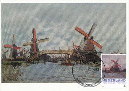 D14627 CARTE MAXIMUM CARD 2013 NETHERLANDS - CLAUDE MONET - MILLS AND BRIDGE AT ZAANDAM !! PLEASE READ !! - Impressionisme