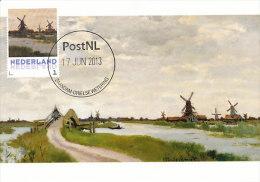 D14628 CARTE MAXIMUM CARD 2013 NETHERLANDS - CLAUDE MONET - MILLS AND BRIDGE NEAR ZAANDAM !! PLEASE READ !! - Impressionisme