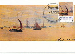 D14631 CARTE MAXIMUM CARD 2013 NETHERLANDS - CLAUDE MONET - VIEW OF THE VOORZAAN AT ZAANDAM !! PLEASE READ !! - Impressionisme