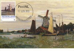 D14633 CARTE MAXIMUM CARD 2013 NETHERLANDS - CLAUDE MONET - A WINDMILL AT ZAANDAM !! PLEASE READ !! - Impressionisme
