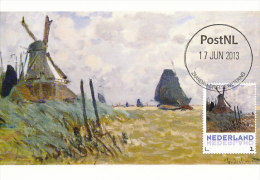 D14634 CARTE MAXIMUM CARD 2013 NETHERLANDS - CLAUDE MONET - WINDMILL NEAR ZAANDAM !! PLEASE READ !! - Impressionisme