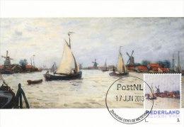 D14635 CARTE MAXIMUM CARD 2013 NETHERLANDS - CLAUDE MONET - BOATS AND WINDMILL AT ZAANDAM !! PLEASE READ !! - Impressionisme
