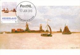 D14636 CARTE MAXIMUM CARD 2013 NETHERLANDS - CLAUDE MONET - THE VOORZAAN AT ZAANDAM !! PLEASE READ !! - Impressionisme