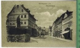 Bleicherode, Hauptstrasse Verlag: Kosmos,Halberstadt Nr. 8406.  Postkarte Mit Frankatur, Mit Stempel  BLEICHERODE   15.4 - Bleicherode