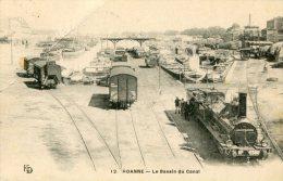 CPA 42 ROANNE LE BASSIN DU CANAL - Roanne