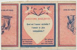 Carte Systeme Pliable Amour Baiser Sur La Bouche Mechanical Erotic Card Edit J. Brien Bruxelles - Mechanical