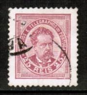 PORTUGAL     Scott # 66  VF USED - 1892-1898 : D.Carlos I