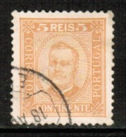 PORTUGAL     Scott # 67  VF USED - 1892-1898 : D.Carlos I