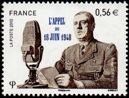 France Célébrité N° 4493 ** DE GAULLE - L'appel Du 18 Juin 1940 - 70ème Anniversaire - De Gaulle (General)