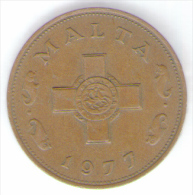 MALTA 1 CENT 1977 - Malta