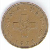 MALTA 1 CENT 1972 - Malta