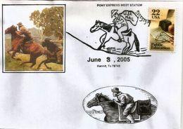 USA: Le Pony Express (service Postal A Cheval Reliant Les  Villes De Saint-Joseph (Missouri) Et Sacramento (Californie) - Horses