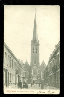 Iseghem (Izegem)  :   Eglise Et Rue St Hilon  -  Rode Tekst - Izegem