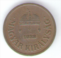 UNGHERIA 2 FILLER 1938 - Hongrie