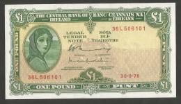 [NC] IRELAND - The CENTRAL BANK Of IRELAND - 1 POUND (30 - 9 - 1976) - Irlanda