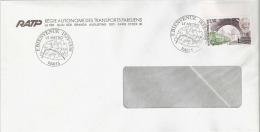 RATP- 1er Jour -Le Métro Paris - Bienvenue Le 17 Janvier 1987 Sur Enveloppe RATP - France
