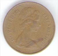 GREAT BRITAIN / GRAN BRETAGNA - ELIZABETH II -  1/2 NEW PENNY  ( 1971 ) - 1971-… : Monete Decimali