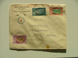 LETTRE DU CABINET DU GOUVERNEUR  AVEC CACHET FRANCE TOUJOURS ET TP FRANCE LIBRE PONDICHERRY 1945 WW2 39/45 COVER